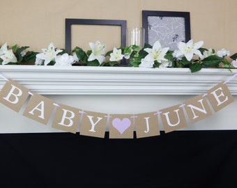 Baby name banner, baby banner, baby shower banner, its a girl, baby shower sign ,baby shower decorations, baby girl banner, boy baby shower