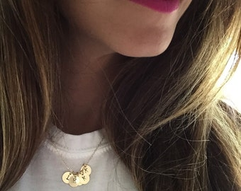 Handstamped Personalized Mini Initial Necklace