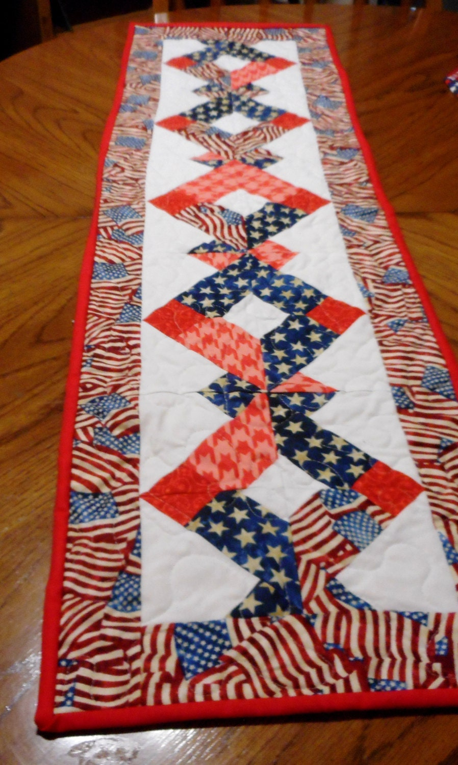 Memorial Day 4th Of July Any Patriotic Holiday Quilted Table