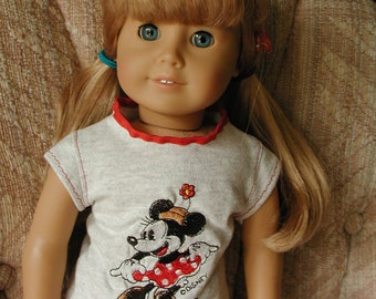 """4 Pc Minnie Mouse Play Clothes for 18"""" American Girl"""