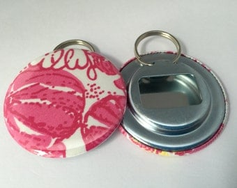 "Lilly Pulitzer ""Chum Bucket"" Fabric Bottle Openers"