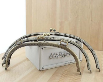 1 PCS, Various Styled Curved Solid Beaded Bronze Kiss Clasp Lock Purse Frame, K051 272 290