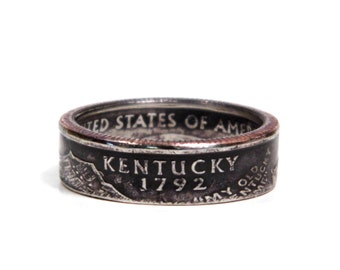 Size 7 Kentucky State Quarter Coin Ring