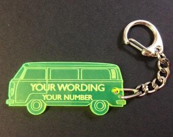 VW Campervan Personalised Keyring