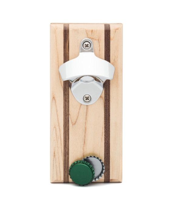 maple bottle opener and magnetic cap catcher maple by nasonworks. Black Bedroom Furniture Sets. Home Design Ideas