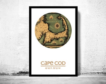 CAPE COD - city poster - city map poster print