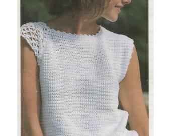 1980s Crochet Top Pattern Sweater