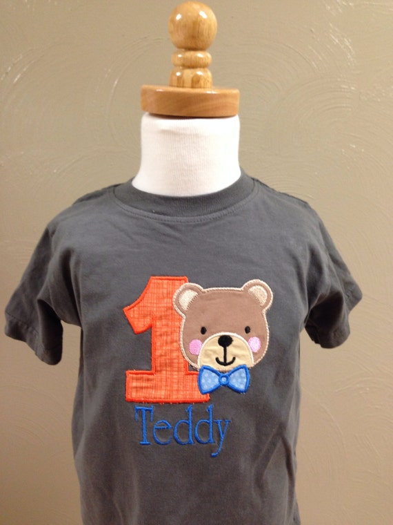 Boys 1st birthday shirt, teddy bear shirt, first birthday teddy bear t shirt, boys clothes