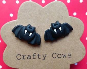 Bat stud earrings -  Halloween vampire bat animal earrings bat stud earrings uk