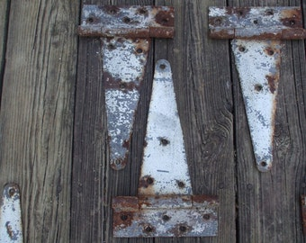 Vintage Rusty  Barn Door Hinges with Great Patina/Rustic