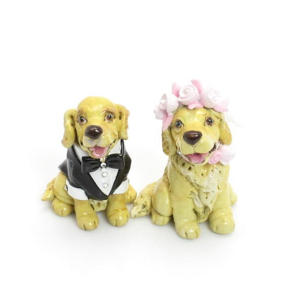 Golden Retriever Wedding Cake Toppers
