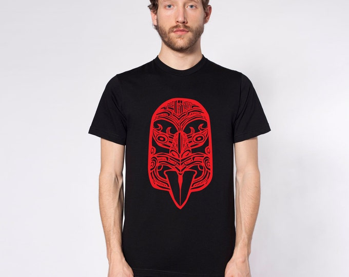 KillerBeeMoto: Haka Māori War Face Carving Short & Long Sleeve T-Shirts Inverse Version