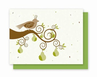 Grow-A-Note® Partridge in a Pear Tree Cards