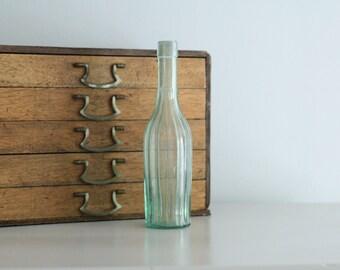 Antique Vintage Unusual Glass Bottle Great decorative piece