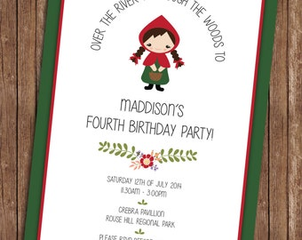 Little Red Riding Hood - Birthday Invitation