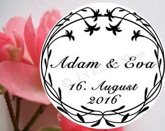"Wedding stamp ""Flowers"", personalized stamp, wedding invitation stamp, save the date stamp, wedding, wedding DIY, 848"