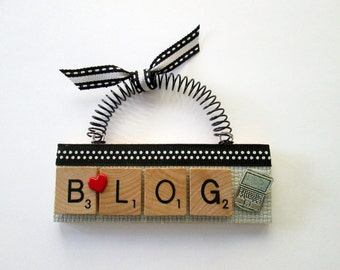 Love to Blog Scrabble Tile Ornament