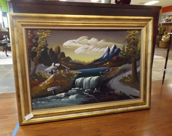 Signed Burnette Pletan Oil Painting 1984
