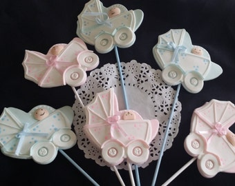 Boy or Girl Baby Shower, Baby Carriage Centerpiece, Baby Shower Centerpiece, Baby Shower Cake, Boy or Girl Cake Decor, Carriage Decorations