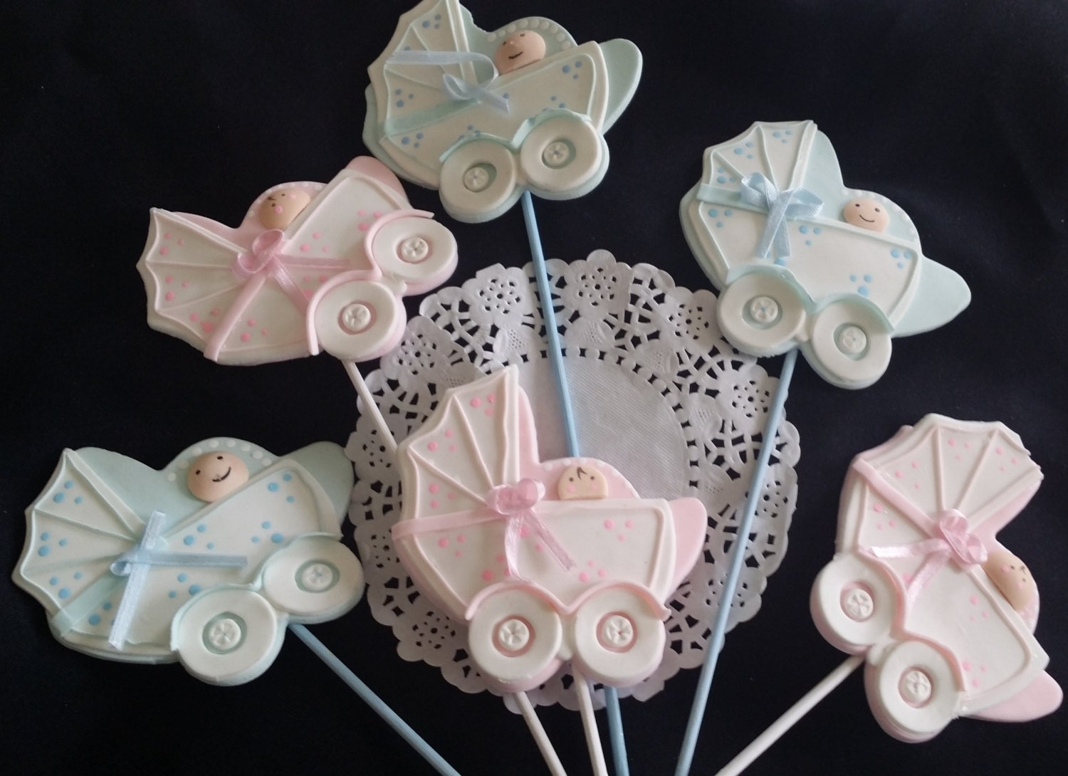 Baby carriage centerpiece carriage centerpiece baby shower for Baby carriage decoration