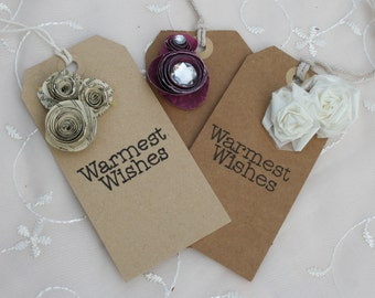 Personal Handmade Flower Gift Tags
