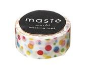 Colourful Dots Washi Tape by Masté Japan | Rainbow dotty masking tape