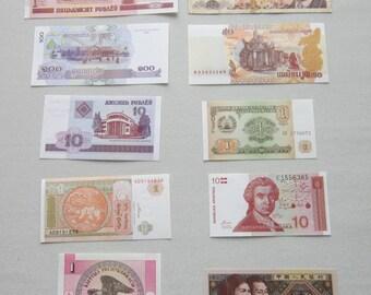 Lot of 10 mixed banknotes