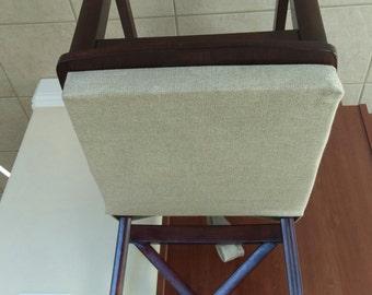 Chair Cushions Natural Linen, Rustic Chair Pad, Stool Seat Cushion, Padded Chair  Cushions