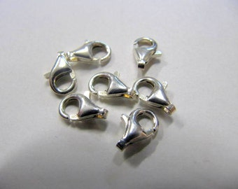 Sterling Silver Clasp, 9 MM, 7 Piece, Close Out Sale, Wholesale Price, Lot sale, Jewelry Findings, Necklace Findings