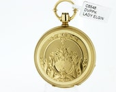 Lady Elgin 18K Yellow Gold Keywind and Set Pocket Watch