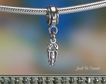 Tiny Lobster Charm or European Style Charm Bracelet Sterling Silver