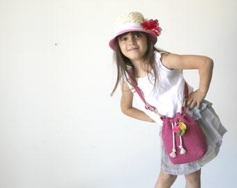 Kids Bag, Mini Bag, Mini Bucket Bag, Bucket Bag, Felt Bag, Wool felt bag