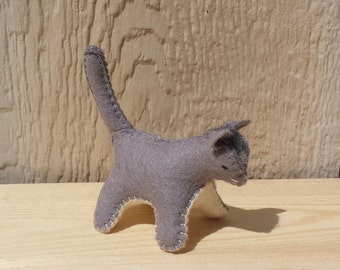 Felt Cat, Stuffed Cat, Cat, Miniature Cat, Kitten