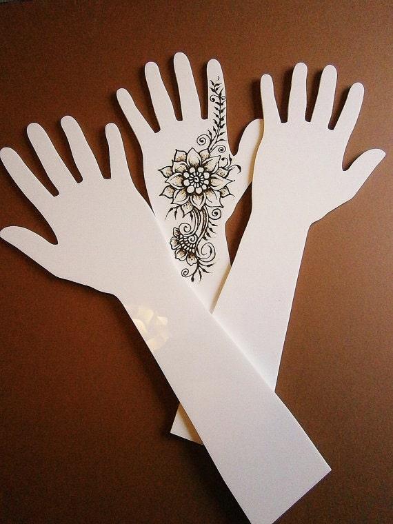 Mehndi For Practice : Acrylic perspex henna mehndi practice hand