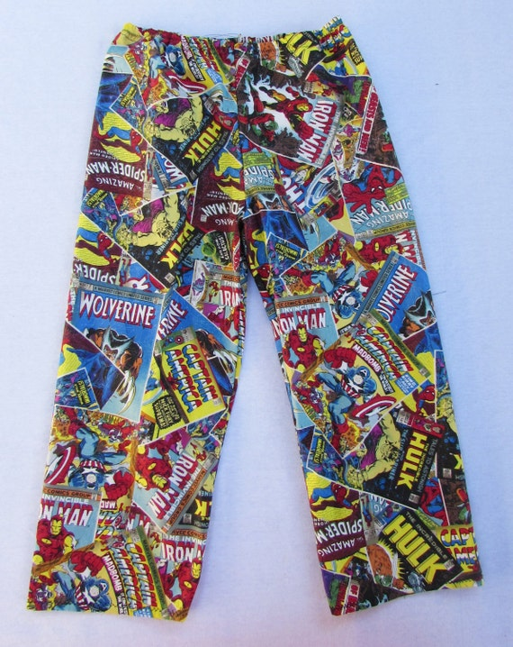 Marvel Comics pajama / Marvel comic cotton pants / mens pajamas / boys pajamas / father and son pajamas/ sizes 1/2T to XL men