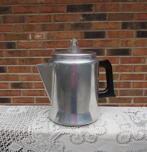 Mirro Percolator Coffee Maker : Aluminum Coffee Pot Mirro Aluminum Stove Top Percolator
