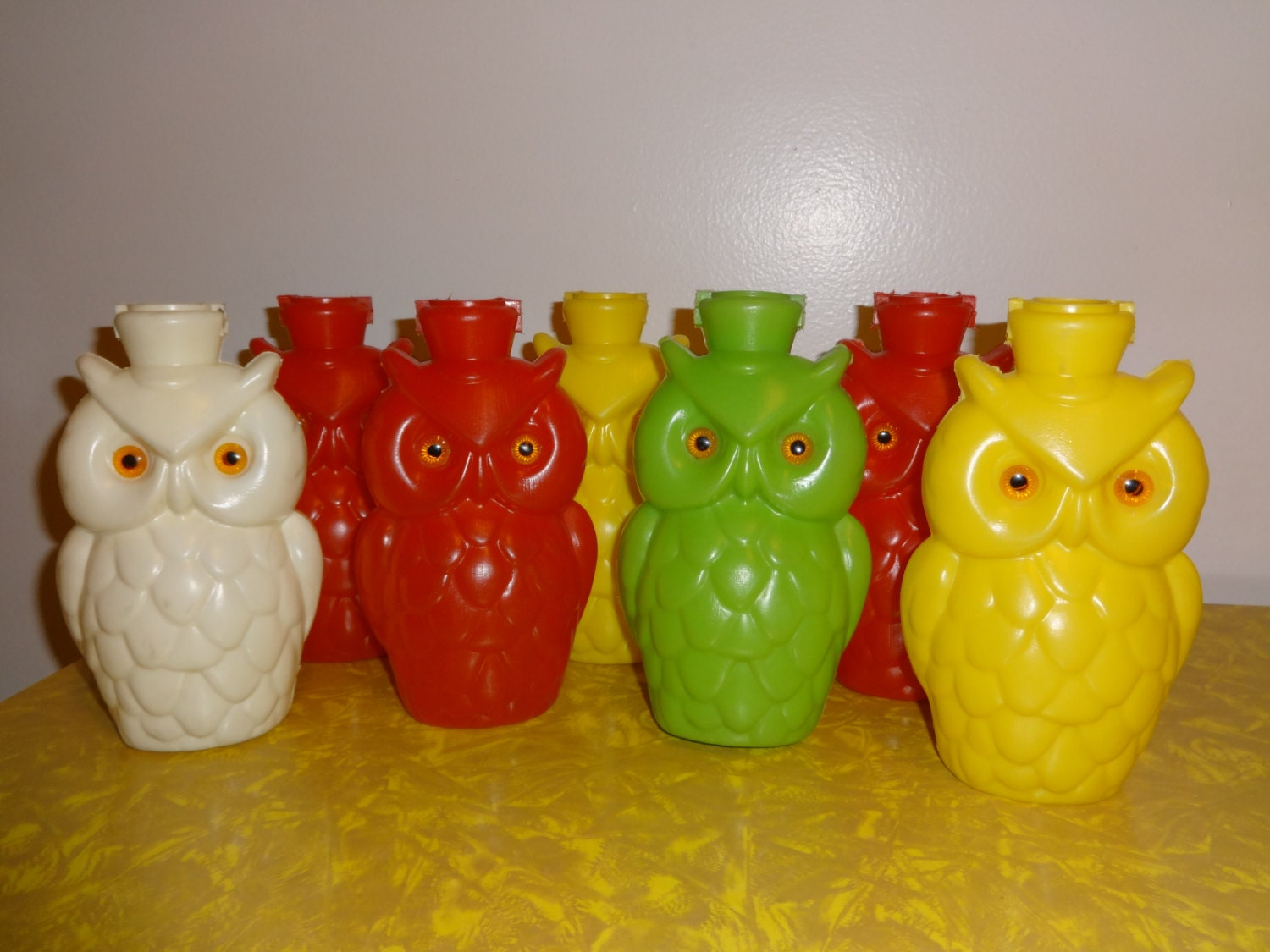 Vintage Wise Owl Blow Mold String Lights by VintageyItems on Etsy