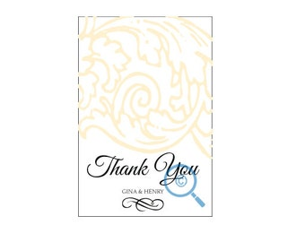 Simply Light Thank You Postcard (wedding or personal)