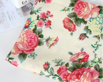 Rayon Fabric Rose By The Yard