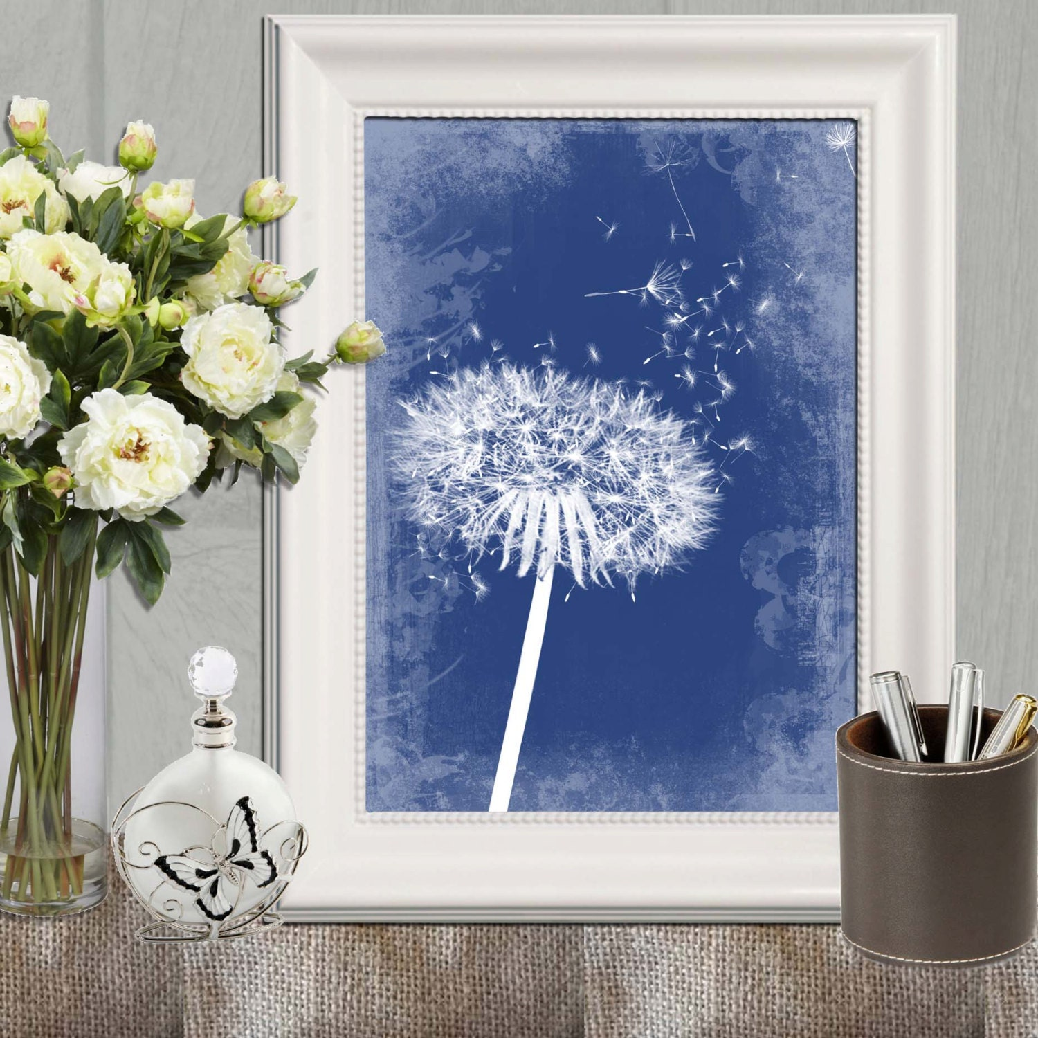navy blue home decor dandelion decor printable navy bedroom