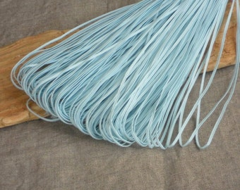 Aqua blue soutache braid cord light blue 2,5 mm jewelry making gimp for beading sewing quilting DIY projects