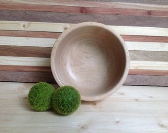 Handcrafted Maple Bowl-15M001