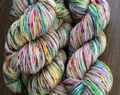 """Twinkle Toes Sock 75/20/5 Hand-Dyed Speckled Sock Yarn -438yds """"Bad Egg"""""""