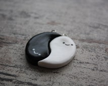 Ghostly Yin Yang Friendship Charms