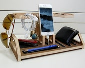 Docking Station and Catchall Honeycomb - Charging Station Valet