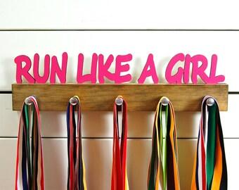 Run Like a Girl Running Medal Holder- 12 or 20 inch