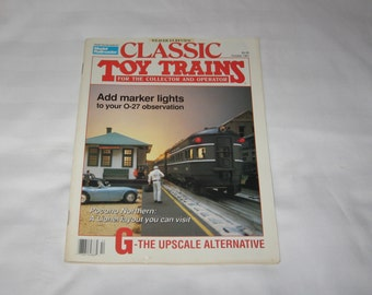 vintage october 1991 classic toy trains magazine