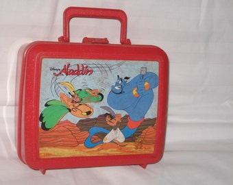 vintage 1990s aladdin disneys aladdin lunchbox