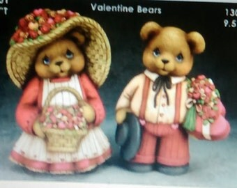 ceramic bisque u paint clay magic valentines bears/anniversary/courting decoration