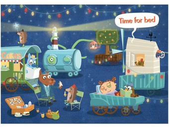 Time for Bed - Limited edition print Fine Art Giclée - Illustration Gift NEW